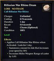 Rilissian War Rhino Drum