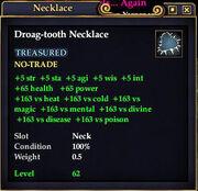 Droag-tooth Necklace