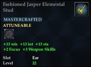 Fashioned Jasper Elemental Stud