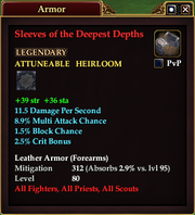 Sleeves of the Deepest Depths