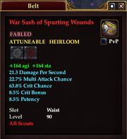 War Sash of Spurting Wounds