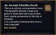 An Ancient Felwithe Scroll