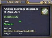Ancient Teachings of- Essence of Doom Aura
