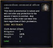 Concordium ceremonial officer robe
