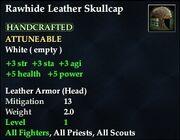 Rawhide Leather Skullcap