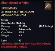 Short Sword of Valor