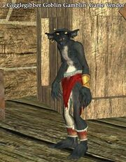 A Gigglegibber Goblin Gamblin' Game Vendor (Antonica)