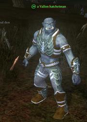 A Vallon hatchetman