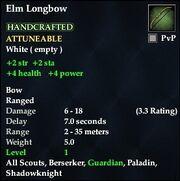 Elm Longbow