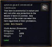 Qeynos guard ceremonial vambraces