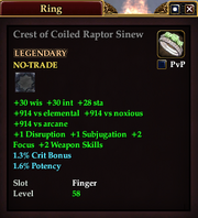 Crest of Coiled Raptor Sinew