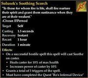 Solusek's Soothing Scorch