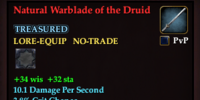 Natural Warblade of the Druid