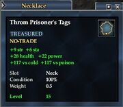 Throm Prisoner's Tags