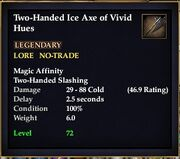 Two-Handed Ice Axe of Vivid Hues
