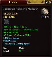 Rujarkian Shaman's Manacle