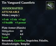 Tin Vanguard Gauntlets