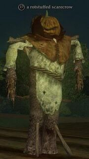 A rotstuffed scarecrow
