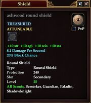 Ashwood round shield