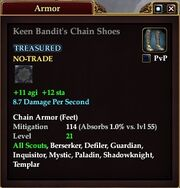 Keen Bandit's Chain Shoes