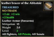 Leather bracer of the Abbatoir