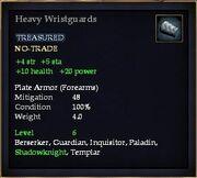 Heavy Wristguards