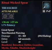 Ritual Wicked Spear