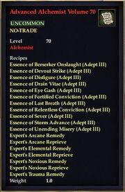 Advanced Alchemist Volume 70