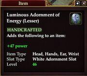 Luminous Adornment of Energy (Lesser)
