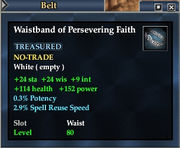 Waistband of Persevering Faith