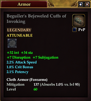Beguiler's Bejeweled Cuffs of Invoking