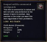 Freeport militia ceremonial wristguards