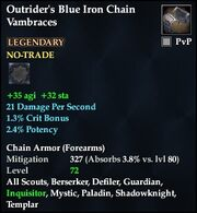 Outrider's Blue Iron Chain Vambraces