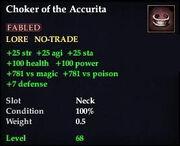 Choker of the Accurita
