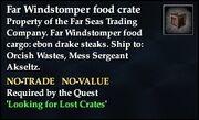 Far Windstomper food crate