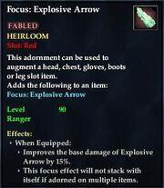 Focus Explosive Arrow