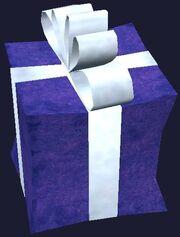 Small purple present (Visible)