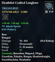 Deathfist Crafted Longbow