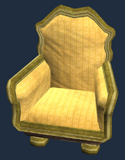 Gold eucalyptus armchair (Visible)
