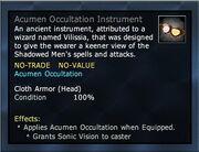 Acumen Occultation Instrument