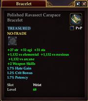 Polished Ravasect Carapace Bracelet