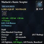 Warlock's Runic Sceptre