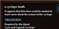 A cyclops tooth