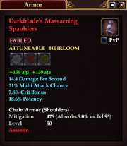 Darkblade's Massacring Spaulders