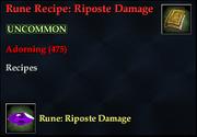 Rune Recipe- Riposte Damage