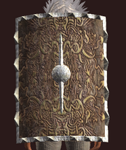 Thunderous Tower Shield (Equipped)