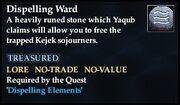 Dispelling Ward