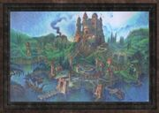 Oil Painting of a Stone Castle (Visible)