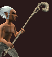 Worn Neophyte's Staff (Equipped)