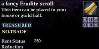 A fancy Erudite scroll